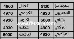 اسعار الحديد