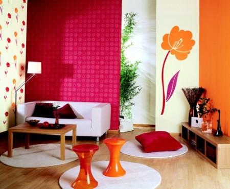 حوائط برتقالي