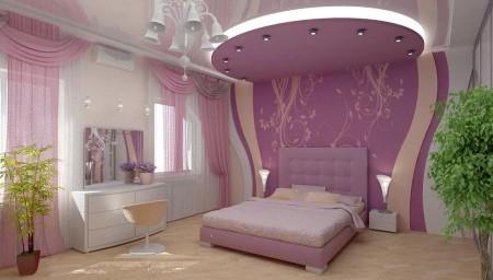 غرف نوم بنفسجيه