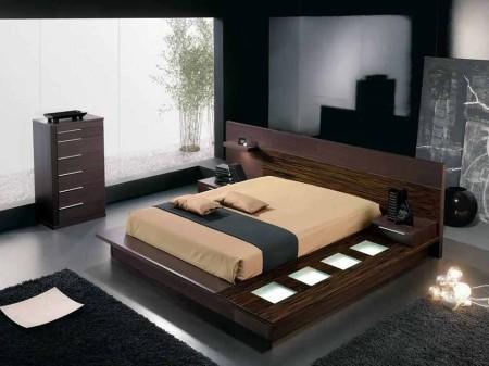 غرف نوم بني