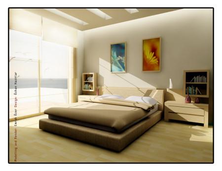 غرف نوم بالوان جدران
