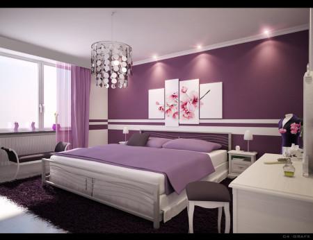 غرف نوم بنفسجي