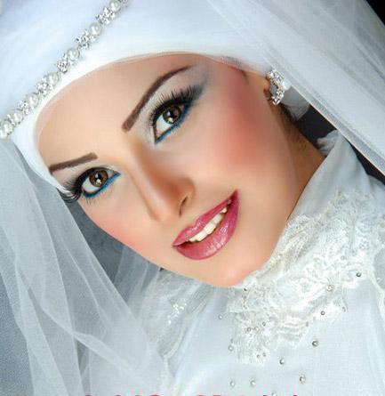 لفات طرح زفاف شيك جدا