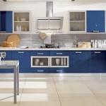 مطابخ المنيوم باللون الازرق