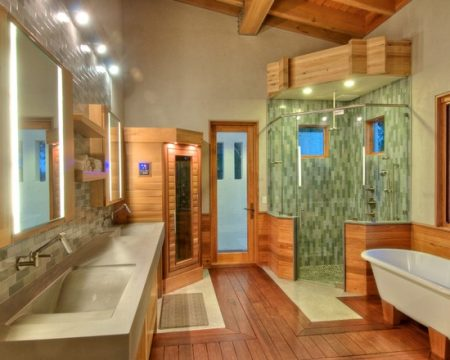 ارضيات حمام خشب