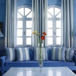 غرف معيشة باللون الازرق