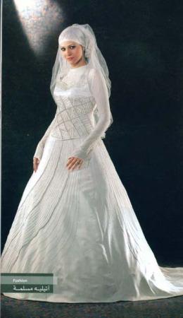 احدث فساتين زفاف للمحجبات (2)