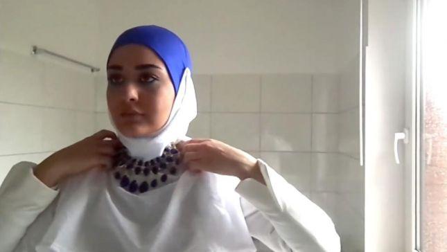 خطوات لفات حجاب محجبات (4)