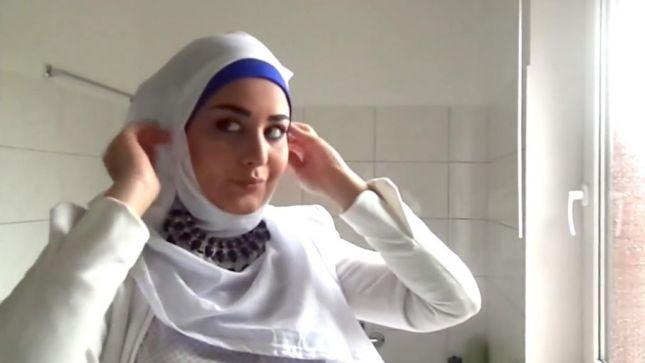 خطوات لفات حجاب محجبات (6)