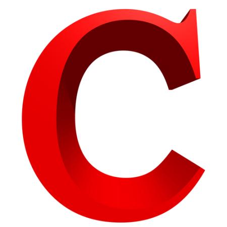 صور حرف c احمر