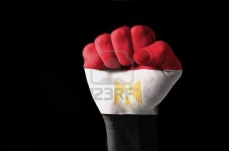 علم مصر قبضة ايد