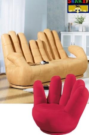 كرسي شكل يد