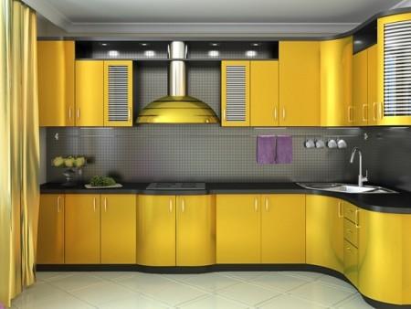 مطبخ اصفر