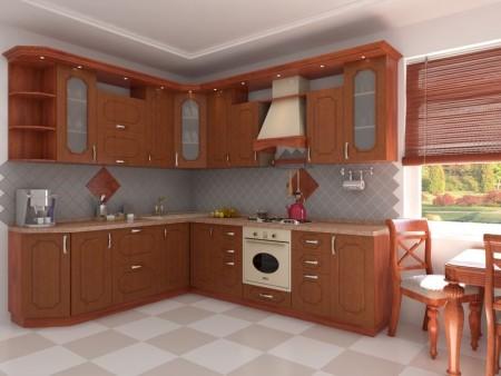 مطبخ بني