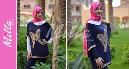 ملابس محجبات 2015 للشتاء