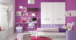 غرف نوم اطفال باللون البنفسجي