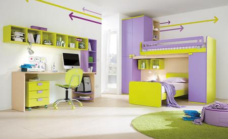 غرف نوم اطفال خضراء (2)