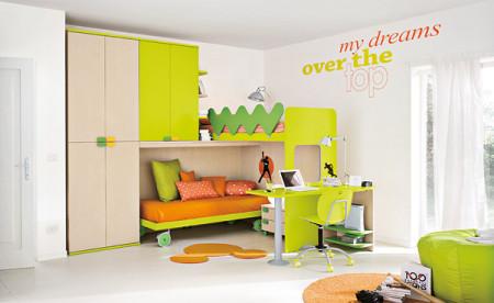 غرف نوم اطفال خضراء