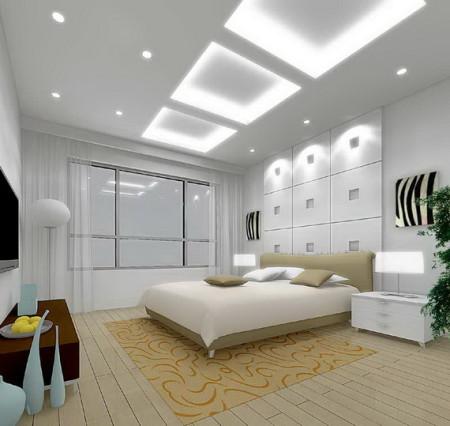 غرف نوم بيضاء