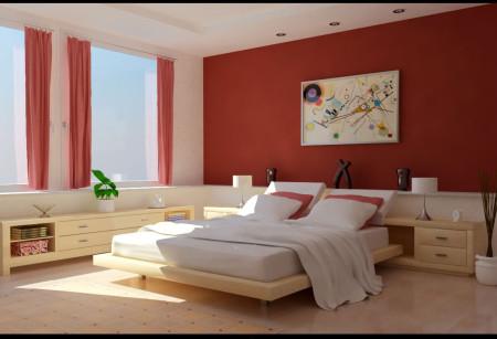 غرف نوم عرسان حمراء