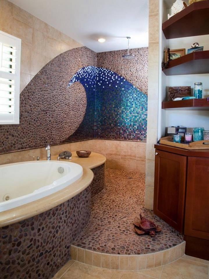 تصميم حمامات راقي ومميز بديكورات فخمة (3)