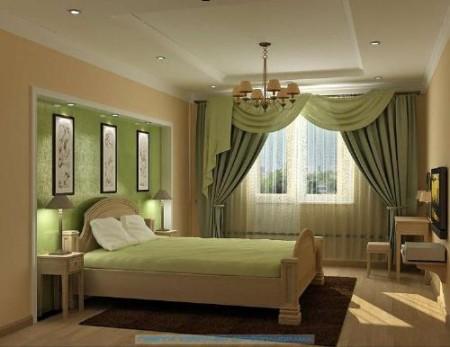 ستائر غرف نوم 2015 خضراء
