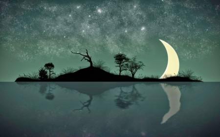 خلفيات القمر والليل وخلفيات الغروب (2)