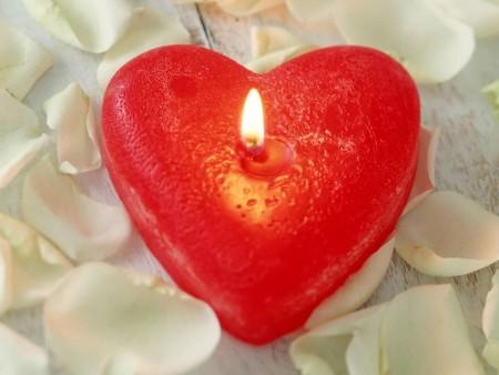 قلوب شمع