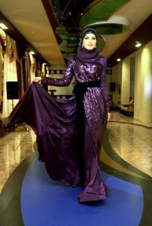 ملابس محجبات فساتين شيك وانيقة (1)