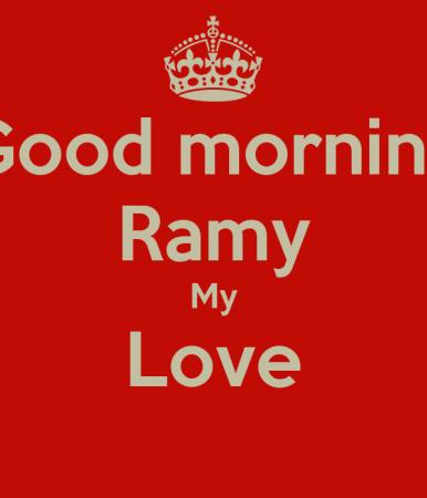good morning ramy