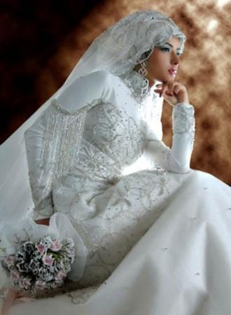 فساتين عروس محجبات (1)