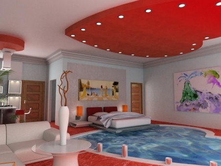 اسقف غرف نوم 2015 ديكورات وتصميمات فخمة (2)