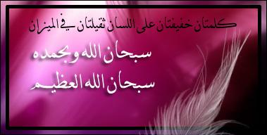 سبحان الله وبحمده سبحان الله العظيم (8)