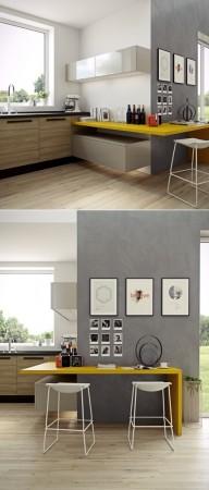 صور مطابخ حديثة وجميلة فخمة بديكورات وتصميمات راقية (1)