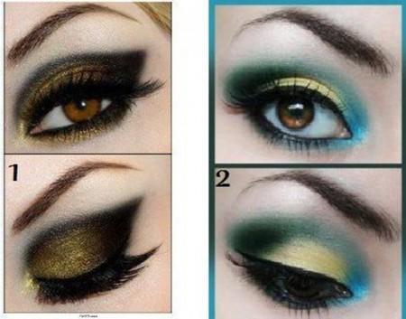 مكياج عيون أخضر (1)
