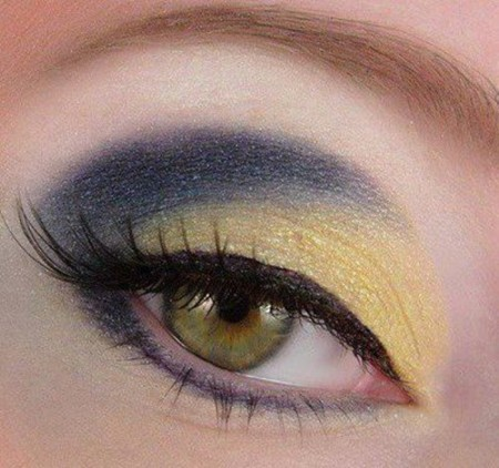 مكياج عيون أخضر (2)