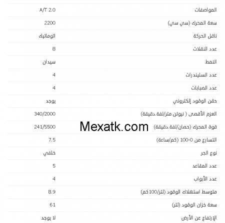 مواصفات جاكوار xf 2015