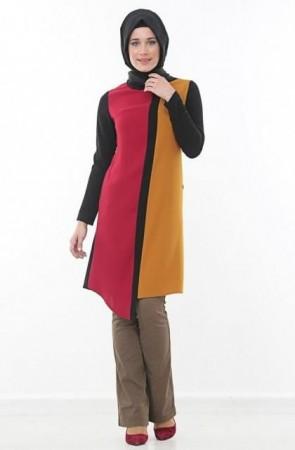 موضة الوان ملابس المحجبات وتنسيق الملابس لشتاء 2015 (6)