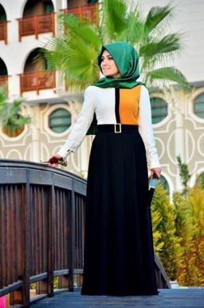 موضة ملابس المحجبات للعيد 2015 (4)