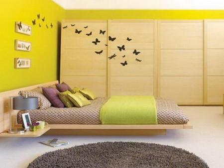 الوان غرف النوم اطفال 2 450x338 صور الوان دهانات حوائط المنزل و غرف النوم المودرن و الكلاسيكية