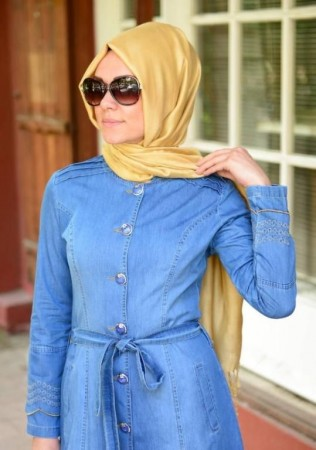 لباس محجبات ازرق (2)