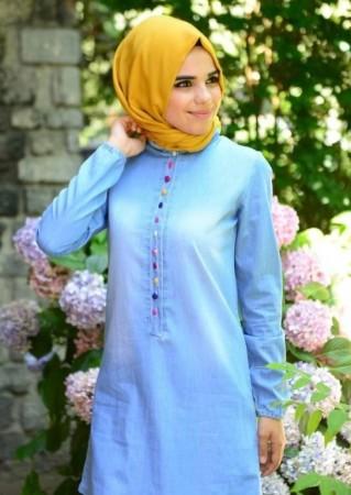 لباس محجبات ازرق (3)