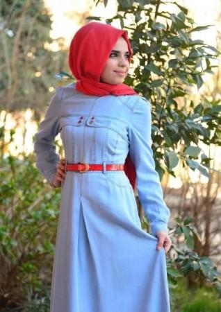 لباس محجبات ازرق (4)