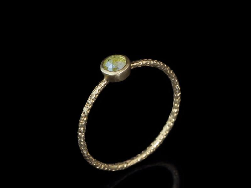 خاتم خطوبة ذهب (2)