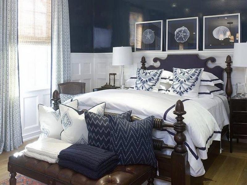 غرفة نوم بيضاء  (1)