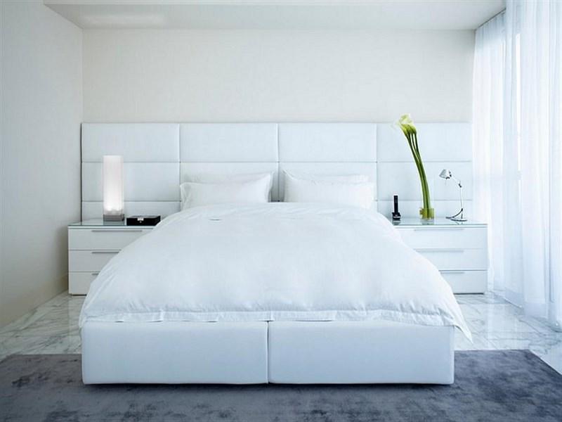غرف نوم بيضاء مودرن  (2)