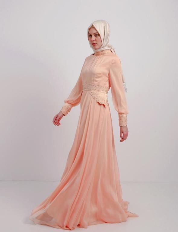 صور فستان خطوبة للبنات المحجبات2016 (1)