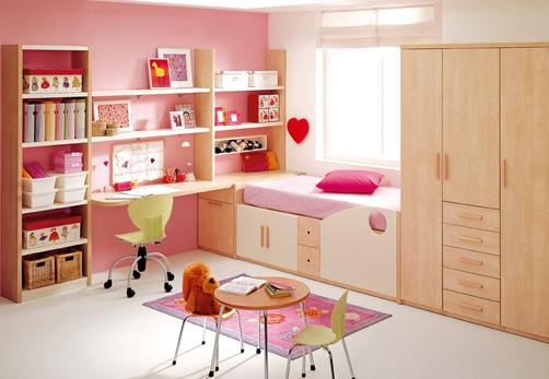 غرف نوم اطفال بنات بالوان مناسبة للبنات الكيوت 2016 (1)