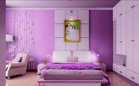 غرف نوم بنفسجي (2)