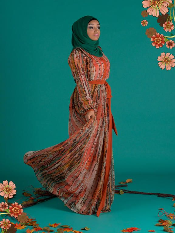 فساتين خطوبة للبنات المحجبات جميلة بالوان مودرن (3)